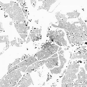 Figure-ground diagram city map Schwarzplan Ottawa