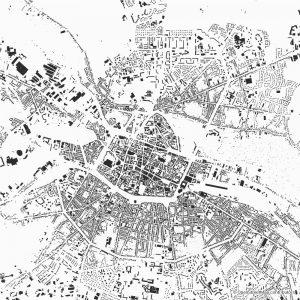 Figure-ground diagram city map Schwarzplan Amiens