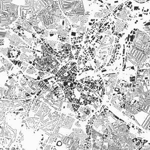 Figure-ground diagram city map Schwarzplan Birmingham