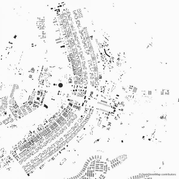 Figure-ground diagram city map Schwarzplan Brasilia