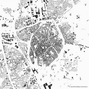Bruges Brügge Figure-ground diagram city map Schwarzplan