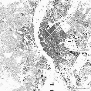 Budapest Figure-ground diagram Schwarzplan