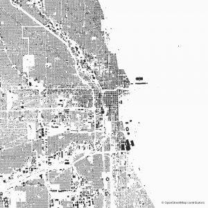 chicago Figure-ground diagram Schwarzplan