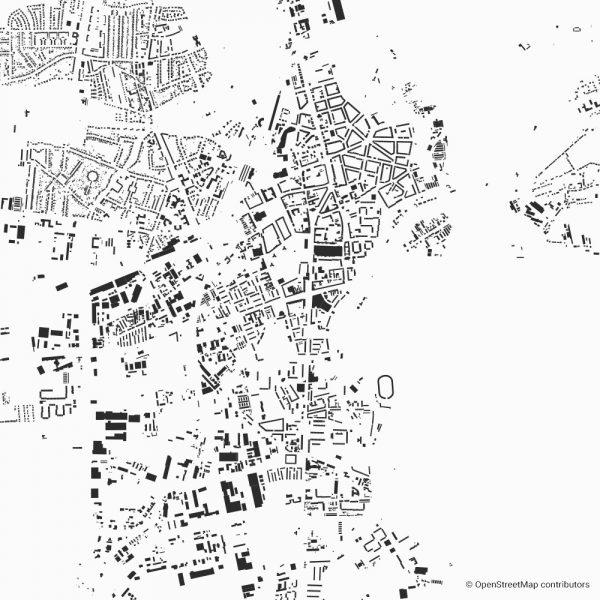 dessau Figure-ground diagram Schwarzplan