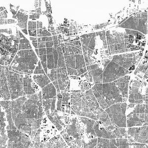 Jakarta figure-ground diagram Schwarzplan