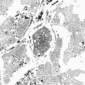 Lübeck figure-ground diagram Schwarzplan