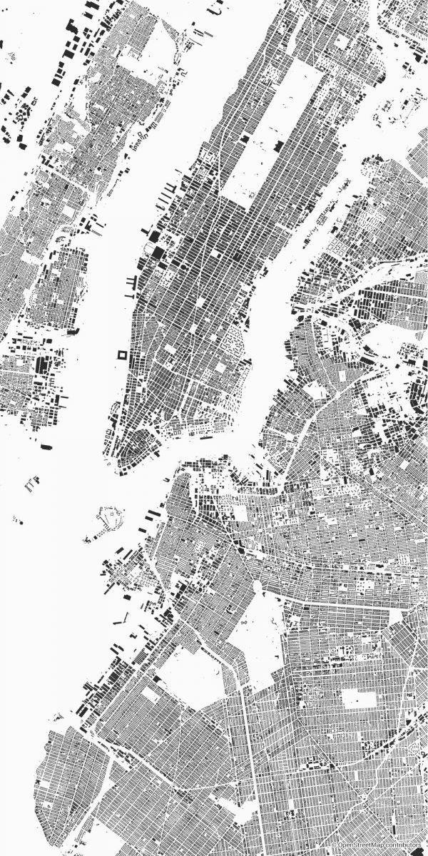 new york figure-ground diagram Schwarzplan