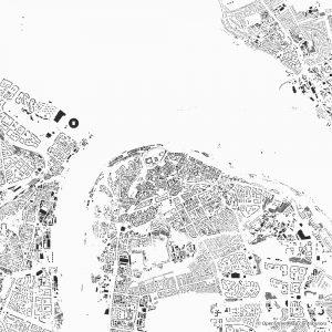 Nizhny Novgorod figure-ground diagram Schwarzplan