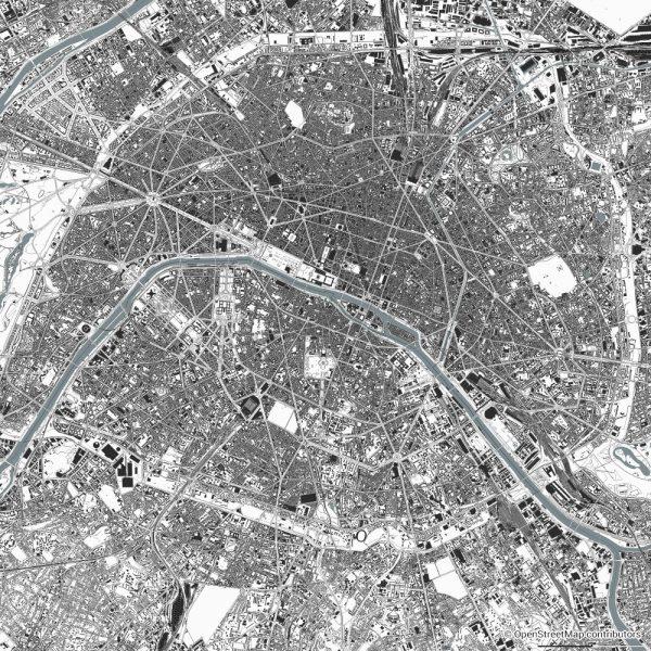 paris figure ground diagram Schwarzplan