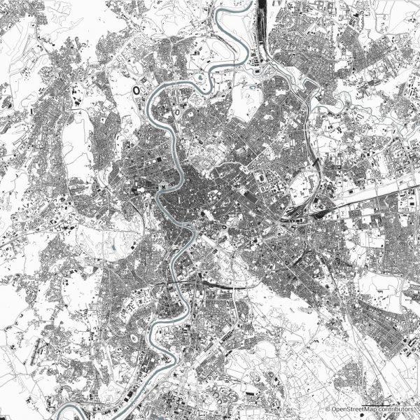 rome figure ground diagram Schwarzplan