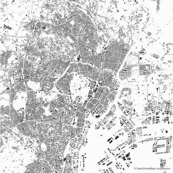 tokyo figure ground diagram Schwarzplan